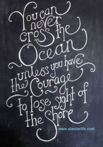 lose sight of shore