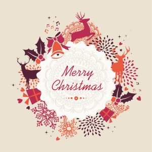Merry-Christmas-Holiday-Vintage-Elements-Vector