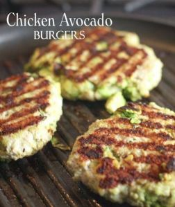 chicken avacado burgers